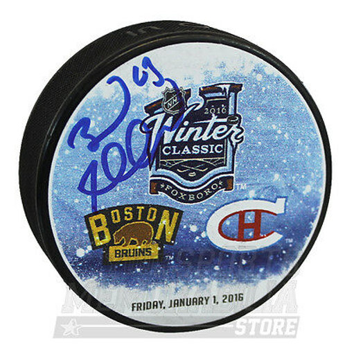 Brad Marchand Boston Bruins Signed Autographed 2016 Winter Classic Dueling Puck