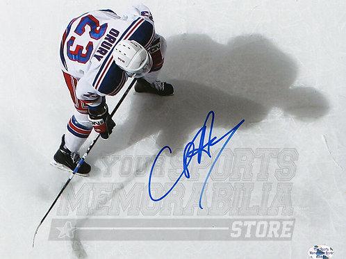 Chris Drury New York Rangers Signed Autographed Overhead 8x10