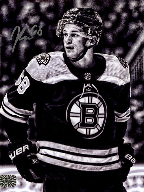 Jack Studnicka Boston Bruins Signed Autographed B/W Close Up 8x10