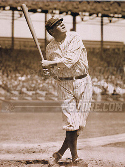 Babe Ruth New York Yankees game at bat home run pose 8x10 11x14 16x20 photo 444
