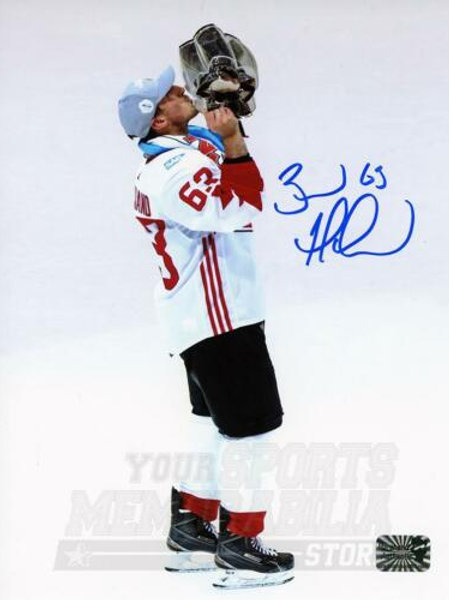 Brad Marchand Boston Bruins Signed Autographed Canada Kissing World Cup 8x10
