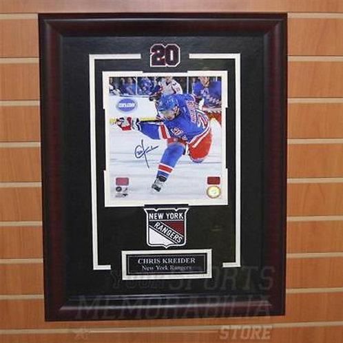 Chris Kreider New York Rangers Signed Autographed Home Action 8x10 Framed
