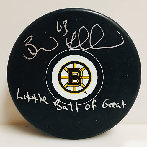 Brad Marchand Boston Bruins Signed Autograph Little Ball of Great Inscribed Puck