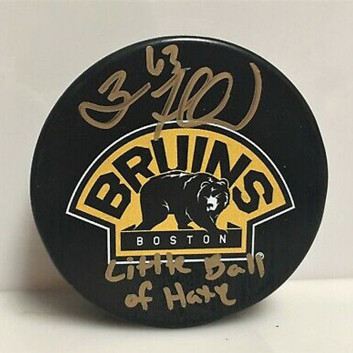 Brad Marchand Boston Bruins Signed Autograph Little Ball of Hate Inscribed Puck