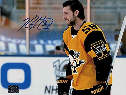 Kris Letang Pittsburgh Penguins signed CITY OF CHAMPIONS 8x10