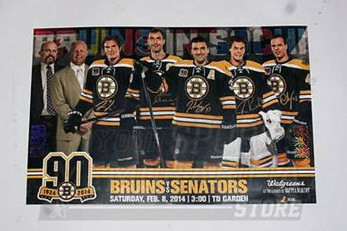 Boston Bruins Signed 2014 Olympics Poster Rask Chara Krejci Eriksson Bergeron