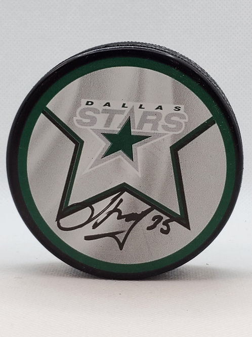 Anton Khudobin Dallas Stars signed Reverse Retro puck