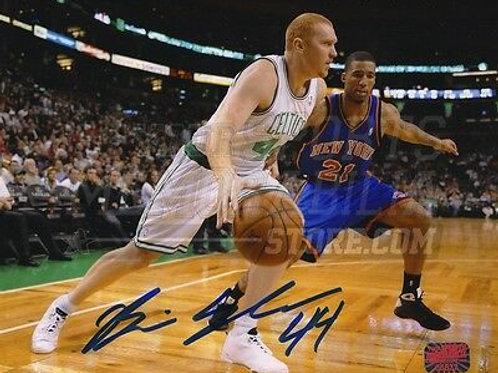 Brian Scalabrine Boston Celtics Signed Autographed Action vs NY Knicks 8x10