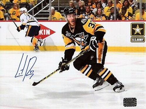 Carter Rowney Pittsburgh Penguins Signed Autographed Stanley Cup Home Skate 8x10