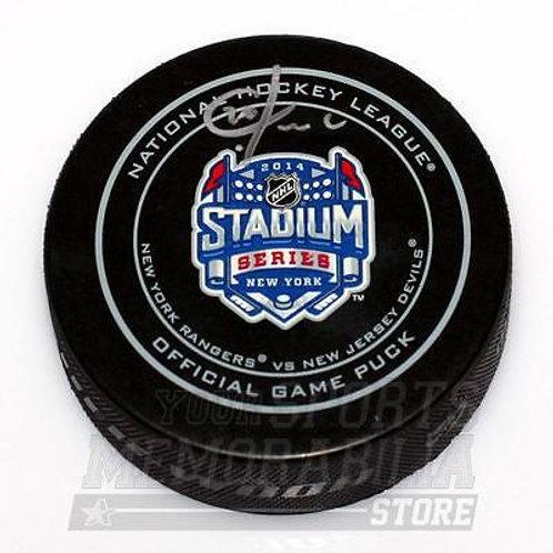 Chris Kreider New York Rangers Signed Autographed Official Stadium Game Puck