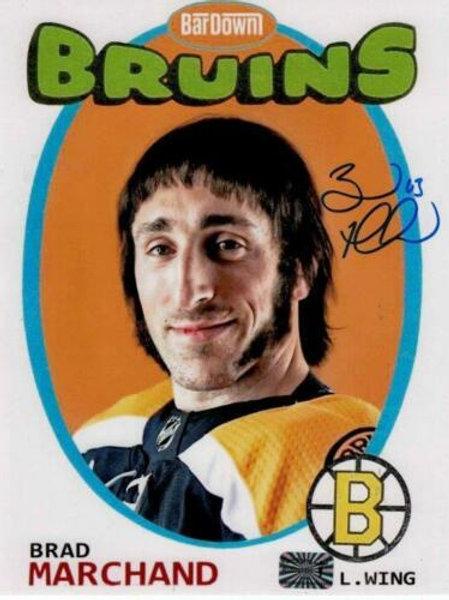 Brad Marchand Boston Bruins signed retro 8x10