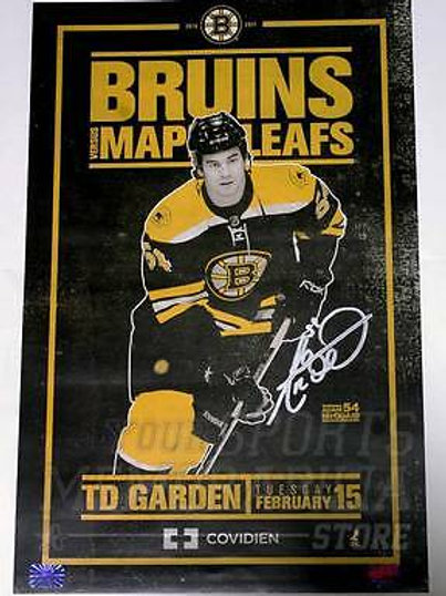 Adam McQuaid Boston Bruins Signed Autographed 2011 Roster Game Poster 11x17