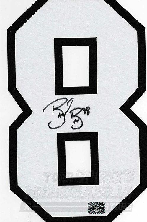 Brent Burns San Jose Sharks Signed Autographed Home Jersey Number