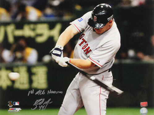 Brandon Moss Boston Red Sox Signed Autographed 1st MLB HR Inscribed 16x20