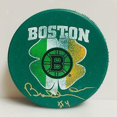 Bobby Orr Boston Bruins Signed Autographed St. Patrick's Irish Flag Puck