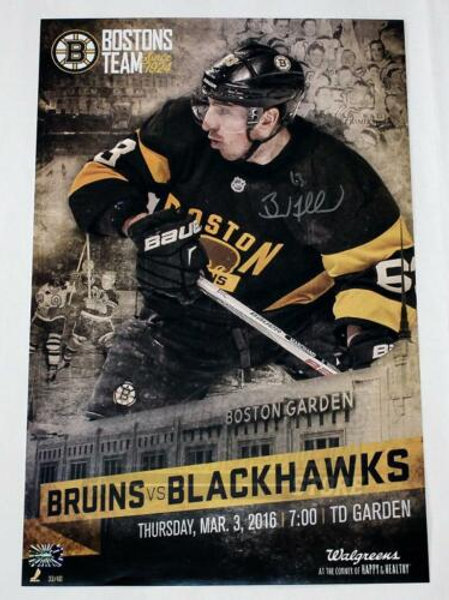 Brad Marchand Boston Bruins Signed Autographed 2016 Game Day Poster 11x17