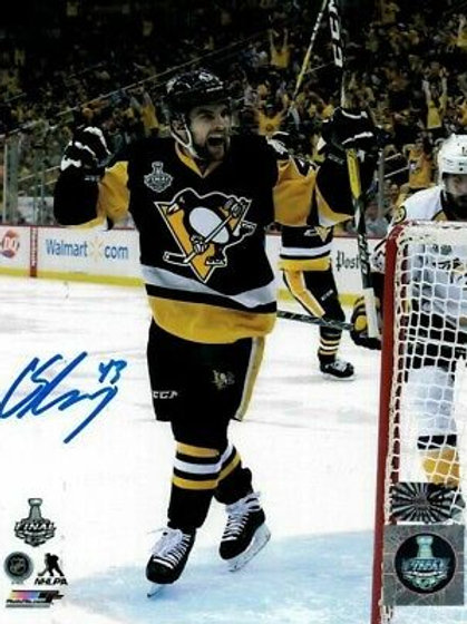 Conor Sheary Pittsburgh Penguins Signed Autographed 2017 Stanley Cup Celly 8x10