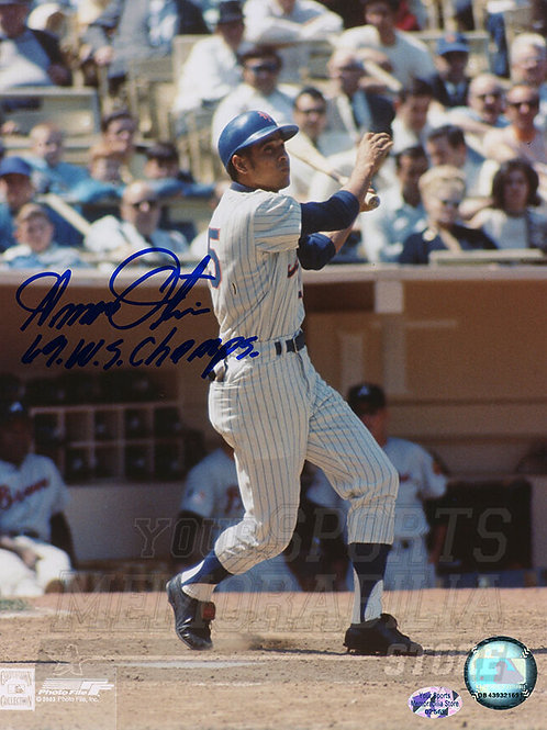 Amos Otis New York Mets Signed Autographed World Series Champs Inscribe 8x10