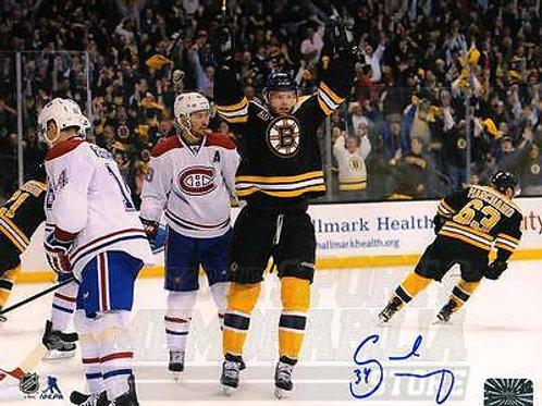 Carl Soderberg Boston Bruins Signed Autographe?d Goal Celebration 16x20