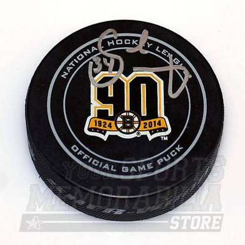 Carl Soderberg Boston Bruins Signed Autographe?d 90th Official Game Hockey Puck