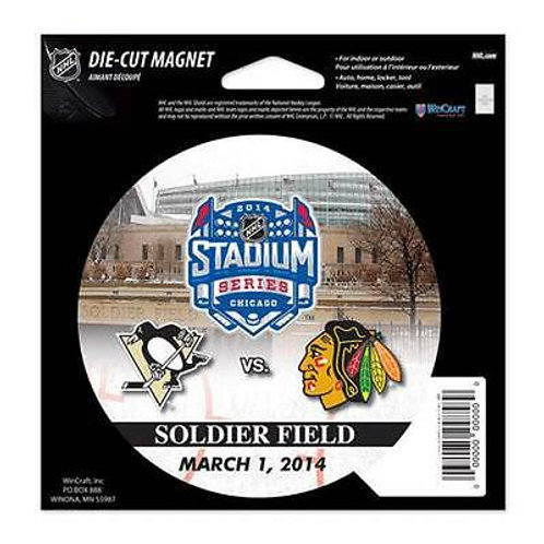 """Chicago BlackHawks Pittsburgh Penguins Soldier Field Winter Classic Magnet 4"""""""