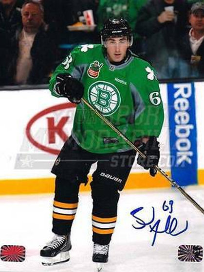 Brad Marchand Boston Bruins Signed Autograph St Patrick's Day Jersey 16x20