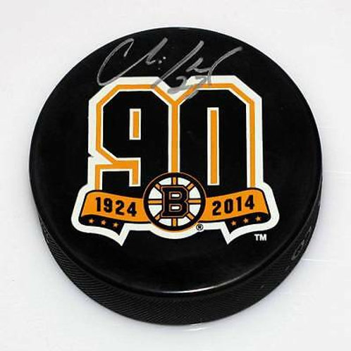 Chris Kelly Boston Bruins Signed Autographed Bruins 90th Year Anniversary Puck