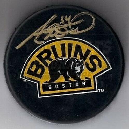 Adam McQuaid Boston Bruins signed 3rd logo puck