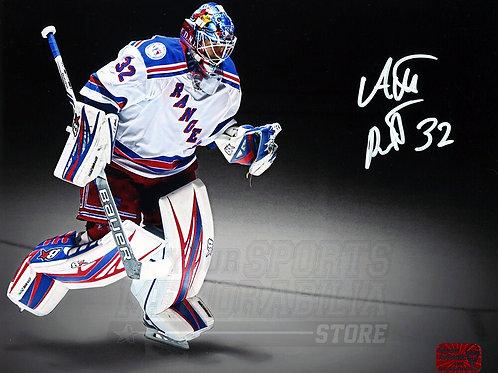 Antti Raanta New York Rangers Signed Autographed Away Entrance Spotlight 8x10