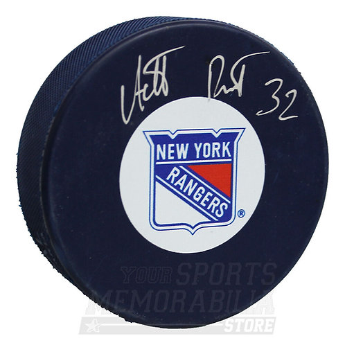 Antti Raanta New York Rangers Signed Autographed Rangers Blue Hockey Puck