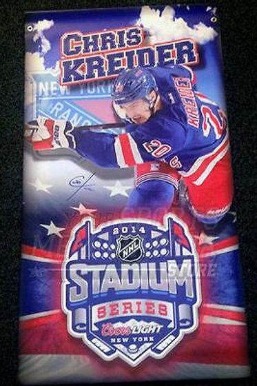 Chris Kreider New York Rangers Signed 2014 Stadium Series Street Banner
