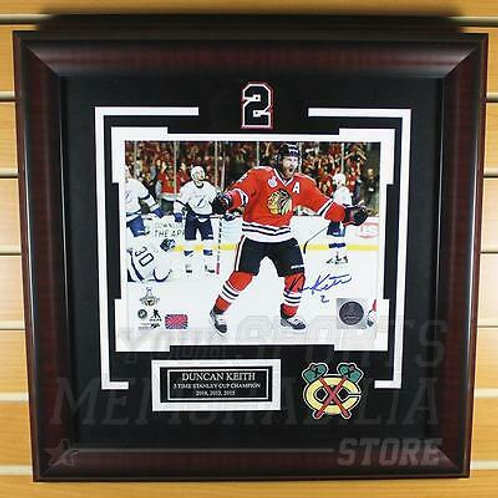 Duncan Keith Chicago Blackhawks Signed Autographed Stanley Cup Goal 8x10 Framed