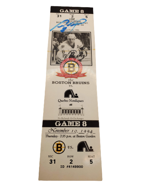 """Cam Neely Boston Bruins signed """"Game 8 1994 Thanks for the memories"""" ticket stub"""