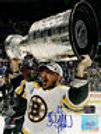 Brad Marchand Boston Bruins raising Stanley Cup autographed signed 8x10