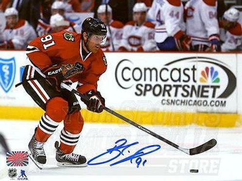 Brad Richards Chicago Blackhawks Signed Autographed Action vs Canadiens 8x10