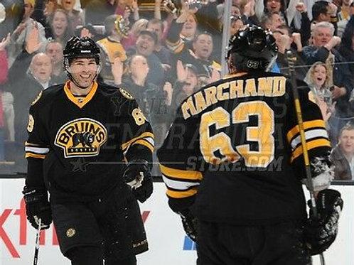 Brad Marchand Jaromir Jagr Boston Bruins celebrate goal  8x10 11x14 16x20 3054