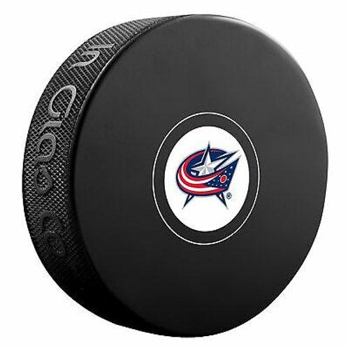 Columbus Blue Jackets Unsigned Blue Jackets Logo Hockey Puck