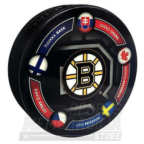 Boston Bruins 2014 Winter Olympics Limited Edition Hockey Puck Bergeron Chara