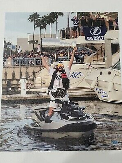 Alex Killorn Tampa Bay Lightning signed 20x24 canvas inscribed Party in the bay