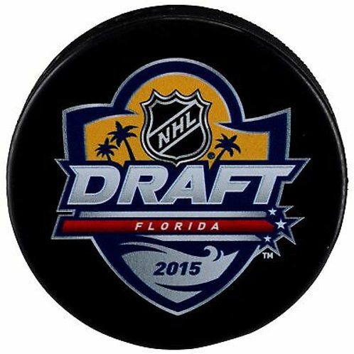 2015 NHL Draft Unsigned Hockey Puck