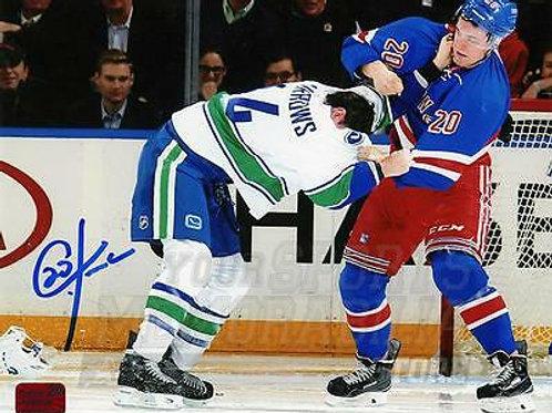 Chris Kreider New York Rangers Signed Autographed Canucks Burrows Fight 8x10