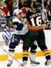 Brian McGrattan Ottawa Senators signed fight 8x10 Nashville Predators