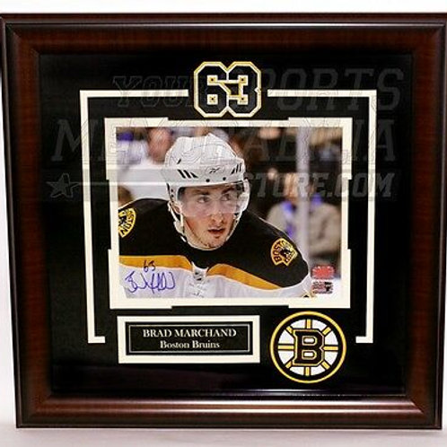 Brad Marchand Boston Bruins Signed Autographed Close Up Framed 8x10