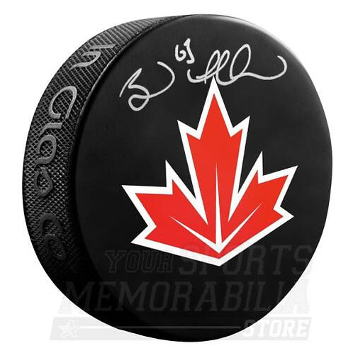Brad Marchand Boston Bruins Signed Autographed Canada World Cup Hockey Puck