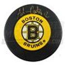 Adam Oates Boston Bruins Signed B-Logo Puck - Gold