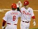 Chase Utley Ryan Howard Philadelphia Phillies high five  8x10 11x14 16x20 927