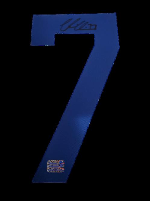 Victor Hedman Tampa Bay Lightning signed #7 Jersey Number Black Ink