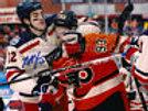 Brian Boyle New York Rangers Signed Winter Classic Fight vs Flyers Voracek 8x10
