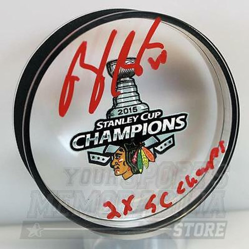 Brandon Saad Chicago Blackhawks Signed Autographed 2015 Stanley Cup Acrylic Puck