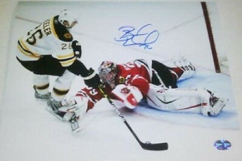 Blake Wheeler Bruins signed 8x10 vs Blackhawks Winnipeg Jets Atlanta Thrashers